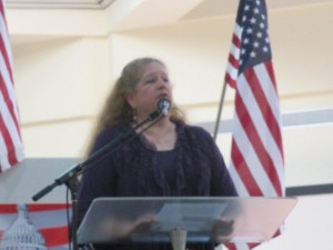 Rabbi Judy participating in the National Day of Prayer, May, 2014